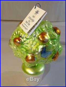 1993 Christopher Radko Partridge in Pear Tree Christmas Ornament Only 5000 Made