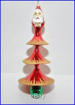 1993 SANTA TREE Christopher Radko Ornament Red Tree Rare 93-320-0 Large 12
