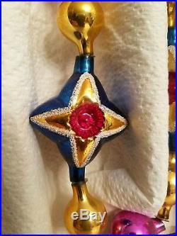 1994 Christopher Radko Garland STAR OF WONDER 94-411-0 Reflector Star Ornament