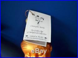 1997 Christopher Radko LAUREL & HARDY Golden Age of Hollywood Ornament NIB