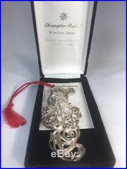 1997 Christopher Radko Sterling Silver Christmas Ornament Jewelry Winter Spirit