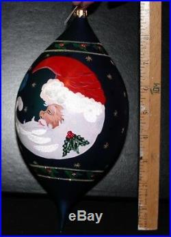 1998 Christopher Radko MOON DREAM SANTA Ornament 3nd in St Nick Portrait Series