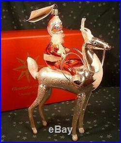 1998 Christopher Radko Made In Italy Ltd. Ed Sterling Rider Christmas Ornament