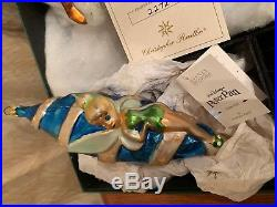 1998 Christopher Radko Peter Pan Set of 5 with Exclusive Pirate Ship 2272 of 5000