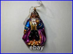 1998 Disney Christopher Radko Beauty And The Beast Christmas Ornament