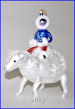 1998 Polar Coaster Christopher Radko Glass Christmas Ornament Rare 98-073-0