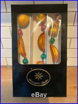 1999 Christopher Radko DELLA ROBBIA Garland 95-308-1 Fruit Bananas Ornament