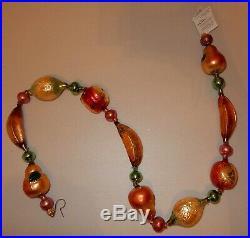 1999 Christopher Radko DELLA ROBBIA Garland Fruit Bananas Ornament