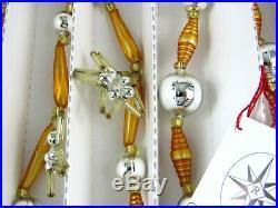 2001 Christopher Radko 72 Stargaze Garland Glass Christmas Ornament
