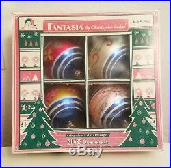 2002 Christopher Radko FANTASIA DUCHESS DELIGHT Ornament Set of 4 02-0149-0