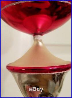 2002 Christopher Radko SLIMMER SHIMMER ASST 3 Large Reflector Ornament 02-0500-0