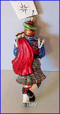 2003 L. E. Christopher Radko Highland Eleven Scottish Bagpipes Ornament