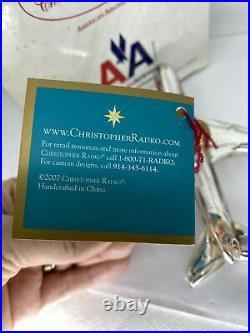 2007 Christopher Radko American Airlines B-777 Glass Ornament 3012117 w Orig Box