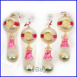 4 Pc Set Christopher Radko Rare Christmas Ornaments Angels We Have Heard On High