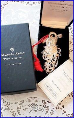 925 STERLING SILVER Christopher Radko Winter Spirit Christmas Ornament Santa