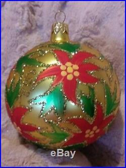 93-144-0 Christopher Radko Holiday Sparkle Christmas Ornament 4.5