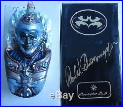 Arnold Schwarzenegger Signed Mr Freeze Christopher Radko Ornament BoxPSA#AA24163