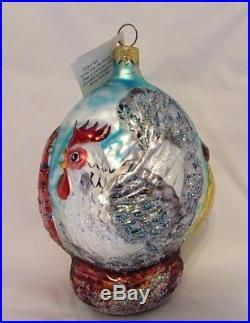 Authentic Christopher Radko RARE SIGNED LTD 1995 Three French Hens Ornament