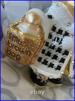 BNIB 2015 Christopher Radko MUFFY BLOOMIES SHOPPER Ornament RARE Bloomingdales