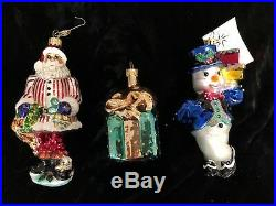 Beautiful Vintage Lot of 18 Christopher Radko Christmas Ornaments includes Boxes