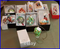 CHRISTOPHER RADKO 12 DAYS OF CHRISTMAS ORNAMENT SET NEW With ALL TAGS & BOXES