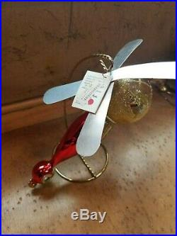 CHRISTOPHER RADKO 1994 SANTA COPTER ITALIANOrnament NEW withTag 94-306-1