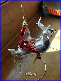 CHRISTOPHER RADKO 1998 STERLING RIDER ITALIANOrnament NEW withTag 98-SP-39