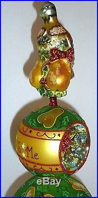 CHRISTOPHER RADKO First Day TREE TOPPER FINIAL ORNAMENT Blown Glass CHRISTMAS
