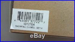 CHRISTOPHER RADKO GLASS ORNAMENTS Snowfall Chimes set/4 RETIRED SET