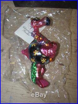 CHRISTOPHER RADKO MINGO LINGO FLAMINGO CHRISTMAS TREE ORNAMENT #2