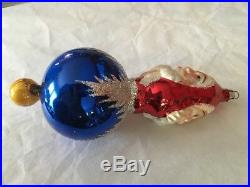 CHRISTOPHER RADKO Ornament Two Sided Santa Reflector 92-102-0 Vintage 1992