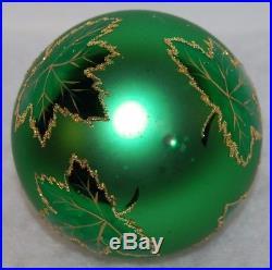 CHRISTOPHER RADKO RAINBOW SCARLETT Christmas Ornament 87-010-4 Green Ball