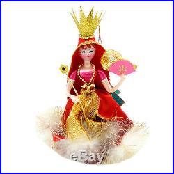 CHRISTOPHER RADKO ROYAL FLUTTER Ornament Italian Italy Princess 1013275 Red