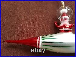 CHRISTOPHER RADKO Super Sonic Santa, 1996, #96-037-0 RARE VINTAGE GLASS ORNAMENT