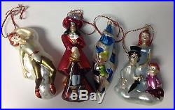 CHRISTOPHER RADKO WALT DISNEY Peter Pan Set Of 4 Glass Hand Blown Ornaments SR