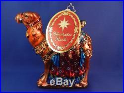 Camel W Jewels Christopher Radko Christmas Ornament Blown Glass Animal 034005