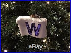 Chicago Cubs W Flag Ornament Christopher Radko 2016 World Series Wrigley Field