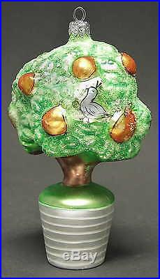 Christopher Radko 12 DAYS OF CHRISTMAS ORNAMENT Partridge In A Pear Tree 75595
