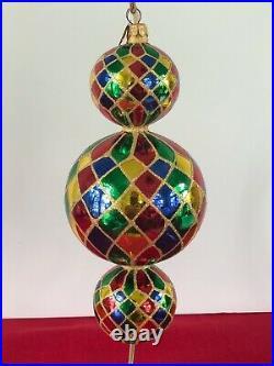 Christopher Radko 15th Anniversary Triple Harlequin Ornament
