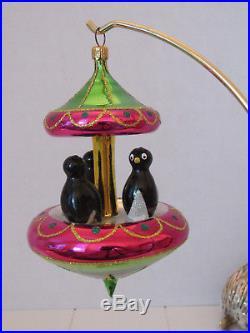 Christopher Radko 1994 Tuxedo Carousel Italian Ornament Retired