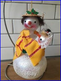 Christopher Radko 2000 Ornament Snowman SNOW MUM 00-1374-0 twins boy & girl
