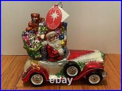 Christopher Radko 20th Anniversary Santa Rolls in Ornament Santa In Rolls Royce