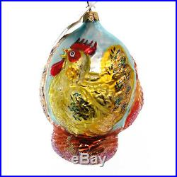 Christopher Radko 3 FRENCH HENS Blown Glass Ornament 12 Days Three Ltd Ed
