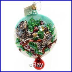 Christopher Radko 4 CALLING BIRDS Blown Glass Ornament 12 Days Four Ltd Ed