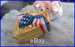 Christopher Radko AMERICAN PRIDE Patriotic Ornament Uncle Sam Eagle Flag Stars