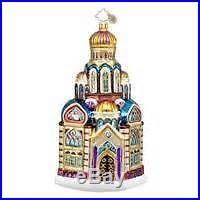 Christopher Radko BLESSED BASILICA Christmas Ornament NWT church cathedral