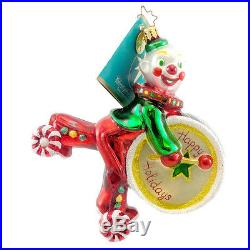Christopher Radko BOPPO Blown Glass Ornament Clown Circus Drum