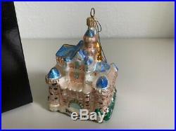 Christopher Radko Blue Cinderella Disneyland Castle, Disney Christmas Ornament