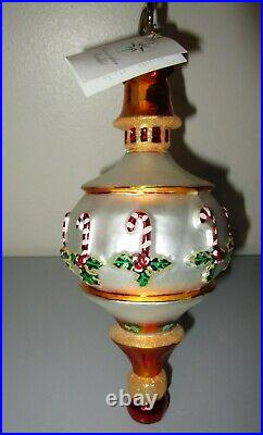 Christopher Radko CHRISTMAS MAGIC Drop Indent Christmas Ornament 02-00-130 NWT