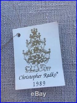Christopher Radko Christmas Ornament 1989 Rare Grecian Urn Gorgeous Vintage